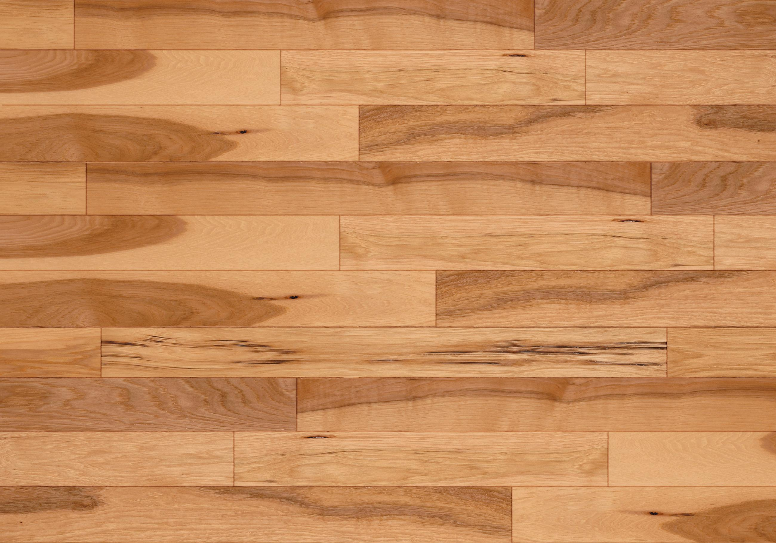 Natural classic smooth hickory continental hardwood for Home hardwood flooring