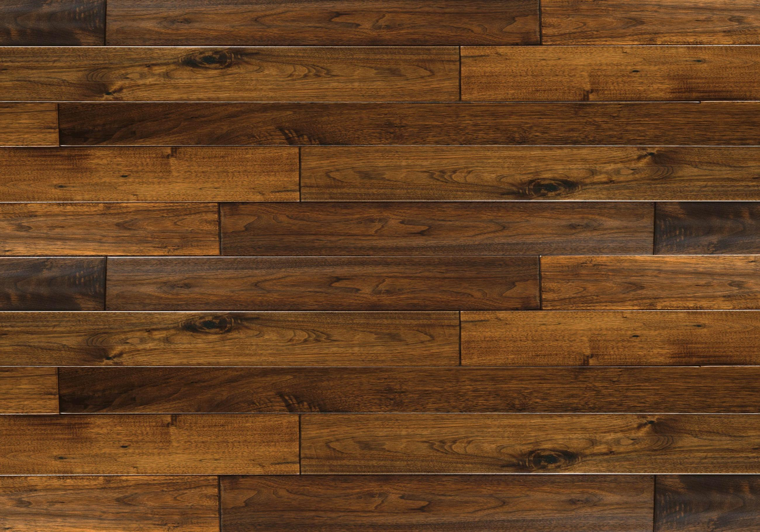 Brown Antique Hand Scrapped Walnut Hardwood Flooring